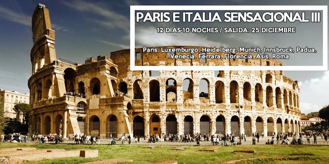 Paris e Italia Sensacional Diciembre