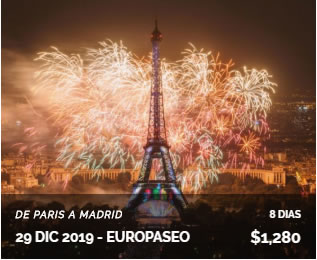 Paris a Madrid 8 días