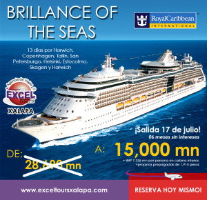 Bloqueo de cabinas Brilliance of the seas Verano