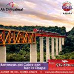 Estas vacaciones visita Barrancas del Cobre y haz el recorrido en el Tren Chepe! Reserva YA!