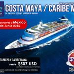 Crucero saliendo desde México en el 2015! Reserva tu lugar!