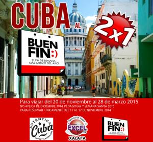 Cuba 2x1 buen fin