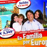 Verano 2016 en Europa para Jóvenes en Familia, Reserva tu lugar hoy mismo!