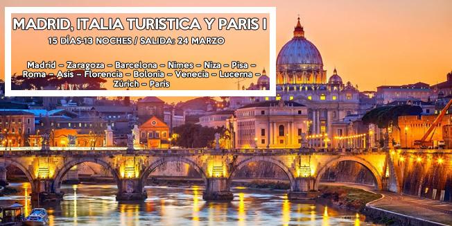 Madrid, Italia Turistica y Paris I - Semana Santa